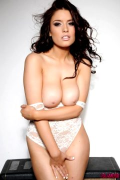 Kelly Andrews Strips From Her White Bodysuit