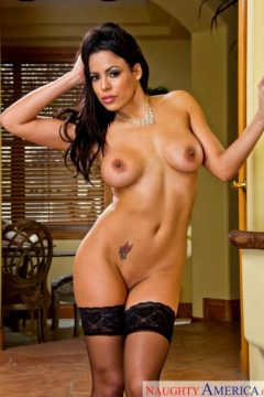 Luna Star – Pink Lingerie Black Stockings