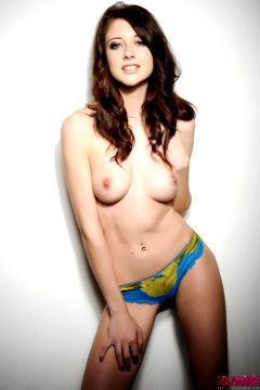 Natalie Taylor – Cute Blue And Gold Lingerie