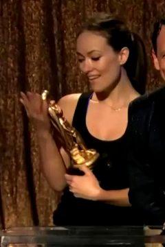 Olivia Wilde Enjoying Her Award