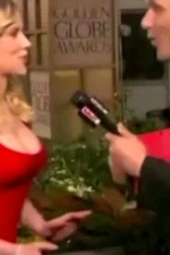 Scarlett Johansson Getting Her Tit Groped By An Interviewer On The Red Carpet