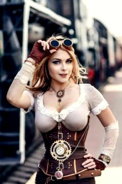 Sexy Redhead – Steampunk Cosplay