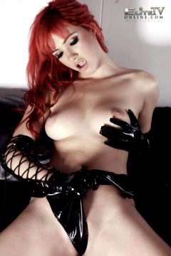 Sophia Knight – Red Hair Black Latex