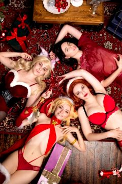 The Best LoL Girls Gathered For The Xmas Party ;) Ahri By Hornet, Jinx By CarryKey, Miss Fortune By Yatochka, Irelia By Truewolfy