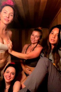 Whitney Cummings In A Sauna With Olivia Munn